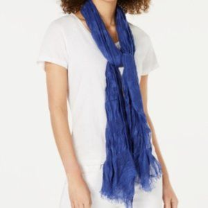 INC Sheer Stripes Wrap Scarf Blue